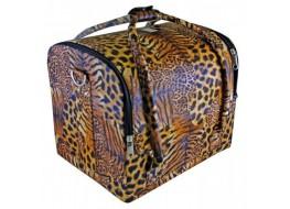 Сумка-кейс кожзам леопард