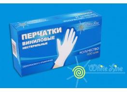 Перчатки WL виниловые  XL 100шт белые