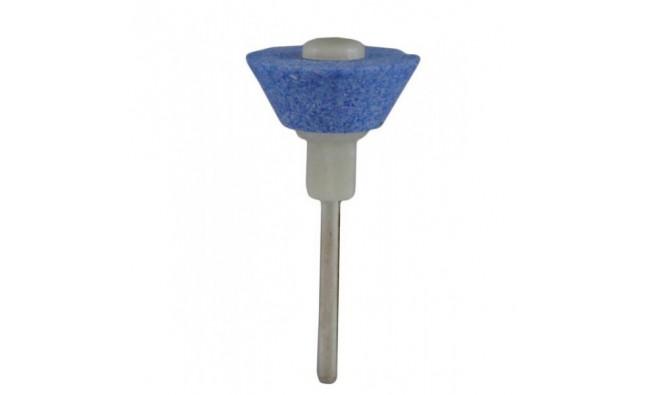 Насадка на дрель керамическая конус перевёрнутый голубой