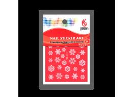 Наклейка для дизайна Снежинки белые YDL017