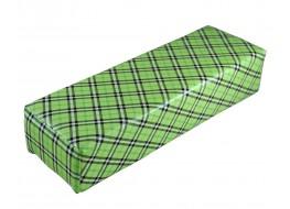 Валик под руку клеточка зеленая две полосы 30*10*7