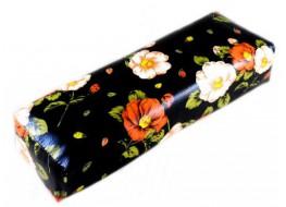 Валик под руку чёрный с цветами