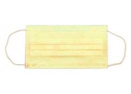 Маска трехслойная на резинках Желтая