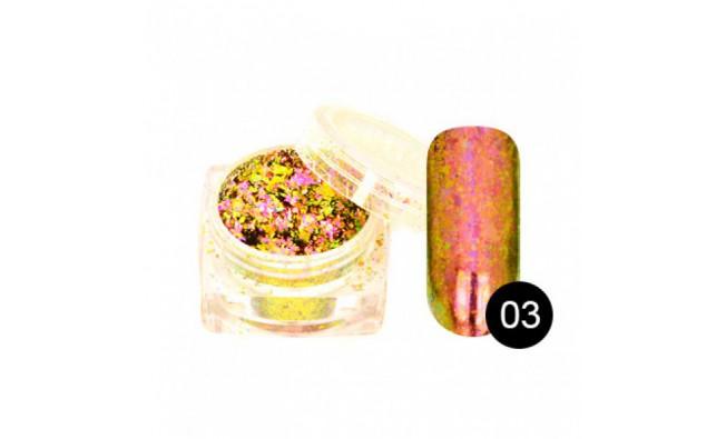 Пигмент для втирки Хлопья Юки №03 (розовый кварц)