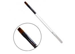 Кисть №10 для геля скошенная с прозрачной ручкой