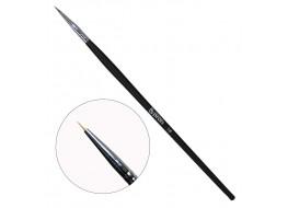 Кисть для росписи волосковая №1 с деревянной ручкой