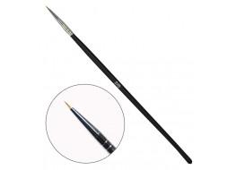 Кисть для росписи волосковая №2 с деревянной ручкой