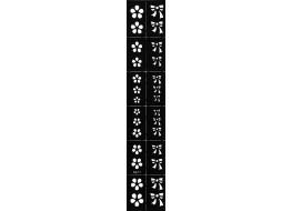 Трафарет для дизайна ногтей Виниловый NK-07
