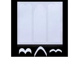 Трафарет для дизайна ногтей одноразовый №14