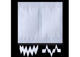 Трафарет для дизайна ногтей одноразовый №16