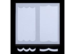 Трафарет для дизайна ногтей одноразовый №23