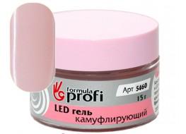 """Гель LED/УФ камуфлирующий """"Кокетливый розовый"""""""