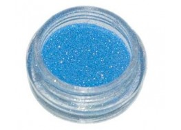 Блёстки Б15 голубые мелкие с золотым отливом