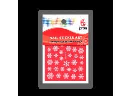 Наклейка для дизайна Снежинки белые YDL014
