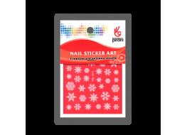 Наклейка для дизайна Снежинки белые YDL015