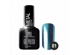 Гель-лак TNL Metal т 01 Голубой металлик