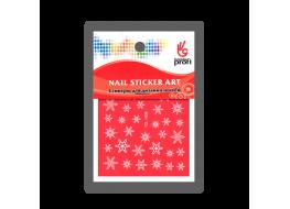Наклейка для дизайна Снежинки белые YDL008