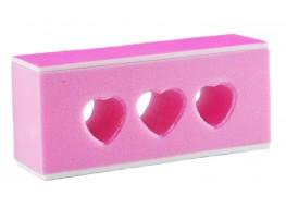 Блок для полировки ногтей розовый 240 грит