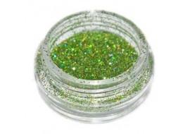 Блёстки Б46 зеленые голографические мелкие
