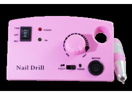 Машинка для маникюра Nail Polisher 402 (30000 об ) розовая с педалью