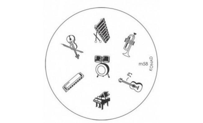 Диск (трафарет) для стемпинга m58