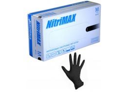 """Перчатки """"Nitri Max"""" нитриловые M чёрные"""
