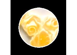 Силиконовые розы большие бело-желтые