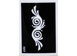 Трафарет для нанесения временной татуировки 190