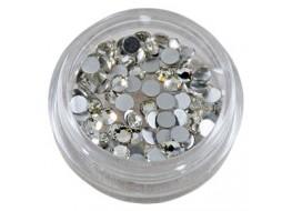Стразы стекло SS10 серебро