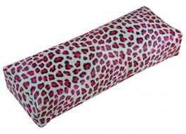 Подлокотник для рук кожаный розовый леопард