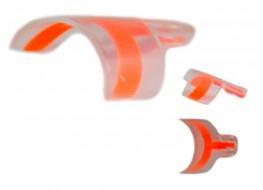 Типсы френч экспресс оранжевые