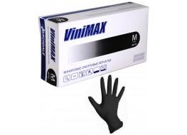 """Перчатки """"ViniMax"""" виниловые M чёрные"""