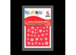 Наклейка для дизайна Снежинки белые YDL019
