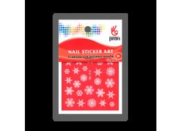 Наклейка для дизайна Снежинки белые YDL018