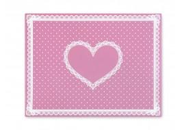 Салфетка силиконовая для маникюра розовая