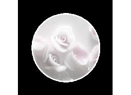 Силиконовые розы большие белые