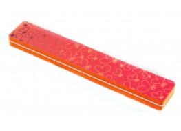 Полировщик для ногтей оранжевый широкий 100/180