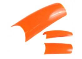 Типсы оранжевые матовые