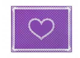 Салфетка силиконовая для маникюра фиолетовая