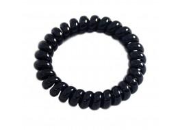 Резинка для волос пластиковая пружинка черная