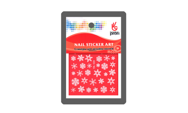 Наклейка для дизайна Снежинки белые YDL020