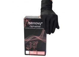 Перчатки BENOVY нитриловые  М черные