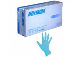 Перчатки Nitri Max нитриловые M 100 шт голубые маленькая пачка