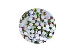 Стразы стекло SS3 Розово-оливковые