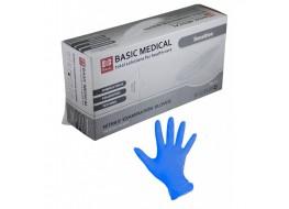 """Перчатки """"BASIC"""" нитриловые L голубые"""