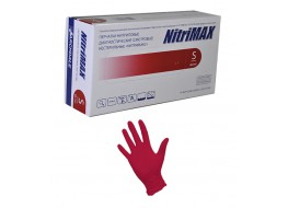 """Перчатки """"Nitri Max"""" нитриловые S красные"""