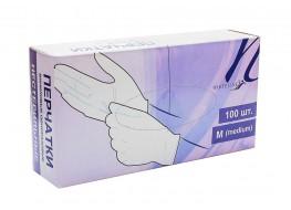 Перчатки WL виниловые L белые