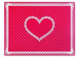 Салфетка силиконовая для маникюра ярко-розовая