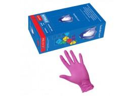 Перчатки нитриловые S розовые Nitri Max