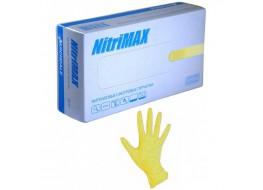 Перчатки  нитриловые S желтые  Nitri Max